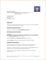 microsoft word resume format simple resume format in ms word business template
