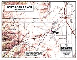 Montana Road Conditions Map by Pony Road Ranch