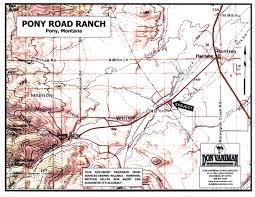 Bozeman Montana Map by Pony Road Ranch