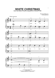 white christmas sheet music music for piano and more