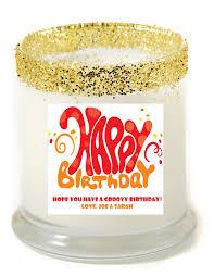 personalized birthday candles happy birthday groovy personalized candle premier personalized