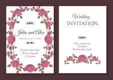 wedding invitation card in pink stock illustration image 31400867