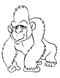 gorilla coloring pages to download and print for free