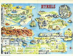 legend of zelda world map poster a3 reproduction video game nes game map replica print poster zelda