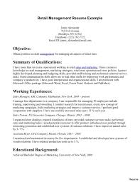 career objective exles for fashion retail stores retail store manager resume sles department fashion sle