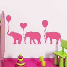 pink nurseries promotion shop for promotional pink nurseries on cute pink balloon elephant wall sticker kids bedroom nursery vinyl removable home decor