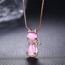 tie pendant necklace images Rose silver quartz crystal rose gold plated bow tie cat necklace jpg