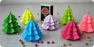 Holiday Craft Ideas For Children - christmas craft ideas for kids handmade christmas trees from