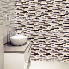 12 Selfadhesive Wall Tile Sticker Removable Wall Kitchen Tile