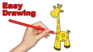 how to draw giraffe cartoons for kids easy learn online drawing