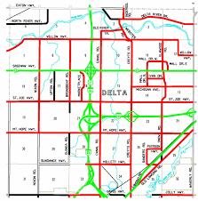 Michigan County Map With Roads by Eaton County Road Commission U003e About Us U003e Eaton County Maps U003e Delta