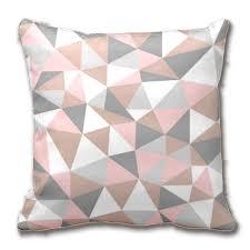 geometric home decor blush and gray geometric pattern throw pillow case home decor
