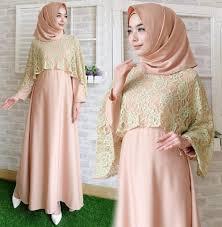 Baju Muslim Brokat 35 model gamis brokat kombinasi satin elegan dan modern