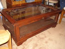 glass top display coffee table view photos of glass top display coffee tables with drawers showing
