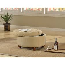 small round tufted ottoman tan and cream tweed tufted storage ottoman family room pinterest
