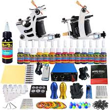 solong tattoo complete starter beginner kit 2 pro machine guns 14