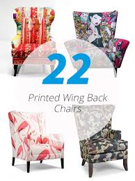 Wingback Armchair Perth 22 Gorgeous Printed Wing Back Chairs Home Design Lover