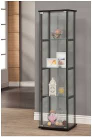 Kitchen Curio Cabinets Curio Cabinet Gray Curio Cabinet Coaster Home Furnishings Black