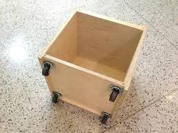 Rolling Ottoman Storage Cube Seat Cloth Ottoman Coffee Table Grey Ottoman Storage
