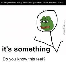 It S Something Meme - when you have many friends but you arent someone s best friend it s