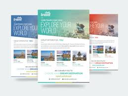travel vacation flyer template flyer template flyers and
