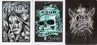bicycle u0027club tattoo u0027 playing cards review i collect playing cards