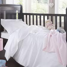 Cot Duvet Set Seville Cot Bed Duvet Cover White