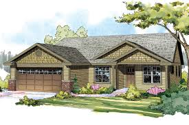 craftsman house plans one story homes hemlock fea hahnow