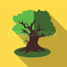 thick tree icon flat illustration of thick tree vector icon for