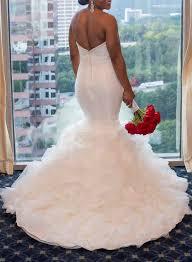 wedding dress for curvy h1577 curvy ruffled strapless mermaid wedding dress