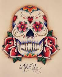 mexican skull tattoo designs skulls and roses flowers tattoo