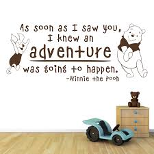 as soon as i saw you winnie the pooh and piglet wall stickers chocolate brown as soon as i saw you wall decal in a nursery