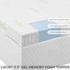 Novaform Gel Memory Foam Mattress Topper Lucid By Linenspa Gel Memory Foam Mattress Review