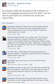 southwest baggage fees golf bags no longer exempt from oversize fee flyertalk forums