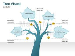 graphic tree diagrams editable ppt slides