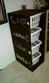 Tall Laundry Basket Stylish Cute Laundry Orgnizer With Chalkboard Sides Why Am I Sooo Obsessed