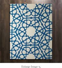 Global Views Arabesque Rug Views Rose Window Rug Blue 5 U0027 X 8 U0027