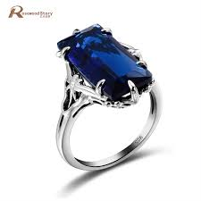 engagement rings with blue stones aliexpress buy classical jewelry 925 sterling silver ring