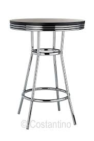 Retro Bar Table Detroit Retro Bar Table Black Costantino