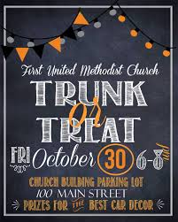 trunk or treat digital files flyer sign by atasteofeverything