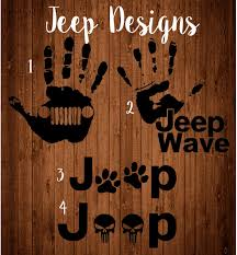 jeep wave sticker mirror jeep wave decal etsy punisher dog paw decaljeep wrangler beep yeti