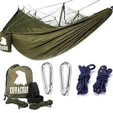 camping hammock covacure lightweight portable double parachute