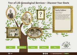 Business Cards For Tree Service Identity Tree Of Life Genealogical Services Carol Johnston