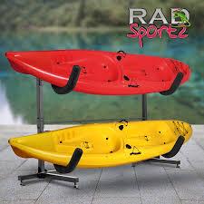 Free Standing Kayak Storage Rack Plans by Rad Sportz Deluxe Freestanding Heavy Duty Kayak Rack Two Kayak
