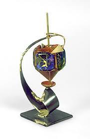 metal dreidel hanukkah handmade dreidels twisted metal dreidel bazaar