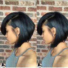 one side stack sassy bob bllack hair 17 best short bob hairstyles for black women 2016 2017