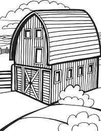 barn coloring pages barn scene coloring page printable coloring