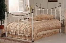 metal beds oxford 4ft 120cm small double ivory bed frame by
