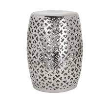 Ceramic Side Table Side Table Outdoor Ceramic Side Tables Garden Stool In Silver