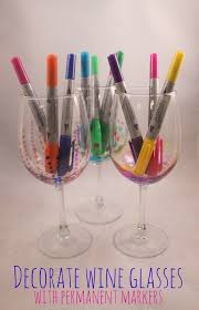 decorated wine glasses diy best decoration ideas for you
